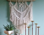Indy // Macrame Wall Hanging on Driftwood