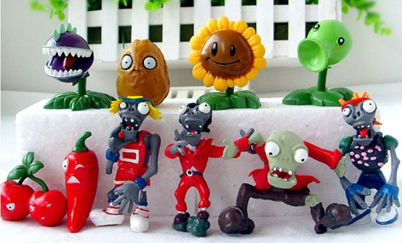 Zombie Wedding Gifts: Plants VS Zombies Birthday Cake Toppers 1 3
