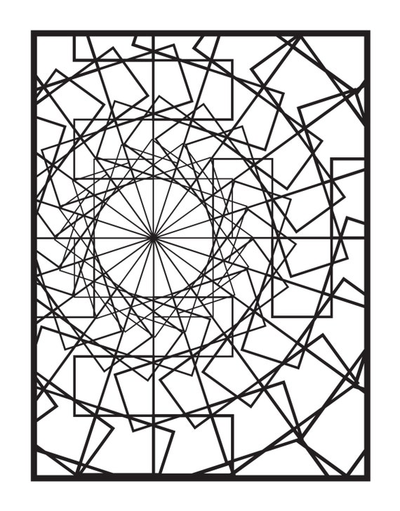 Spin Coloring Book Page Digital Download