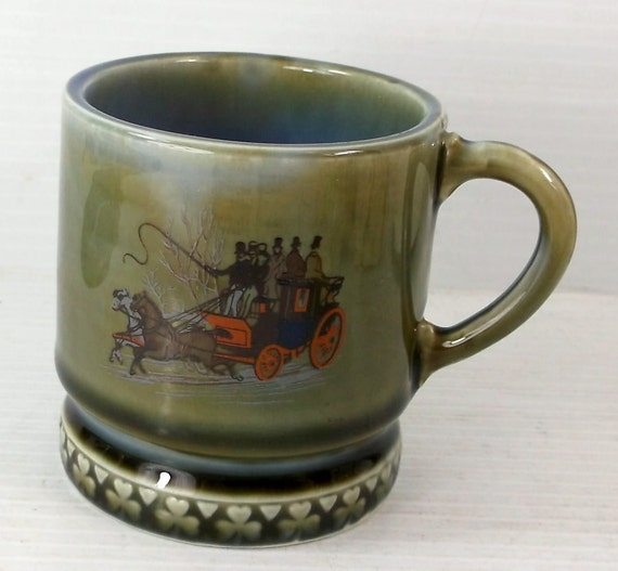 1950s Wade Irish Porcelain Carriage 6 oz Mug