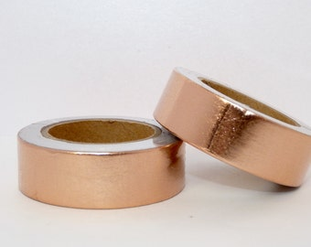 Foil Washi Tape roll - copper - Christmas - Gift - decoration