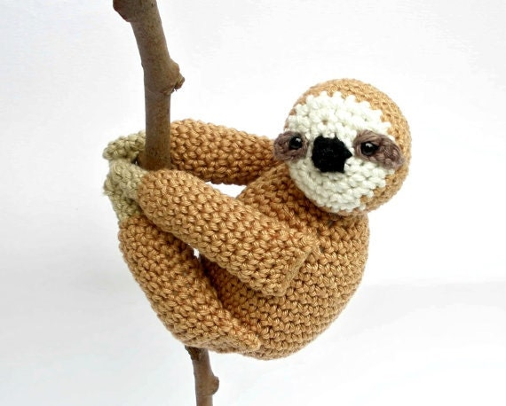 Sloth Stuffed Animal Sloth Plush Crochet Sloth Sloth Toy