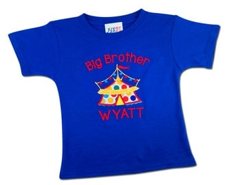 Big Brother Circus Birthday Shirt with Name