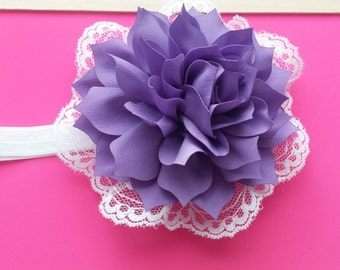 5 inch flower headband