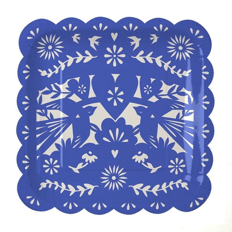 fiesta large paper plates 12 meri meri toot by crankycakesshop. Black Bedroom Furniture Sets. Home Design Ideas