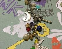Disney Neverland inspired Keychain, Disney Purse Charm