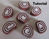Swiss Roll Polymer Clay Tutorial: Instant Download