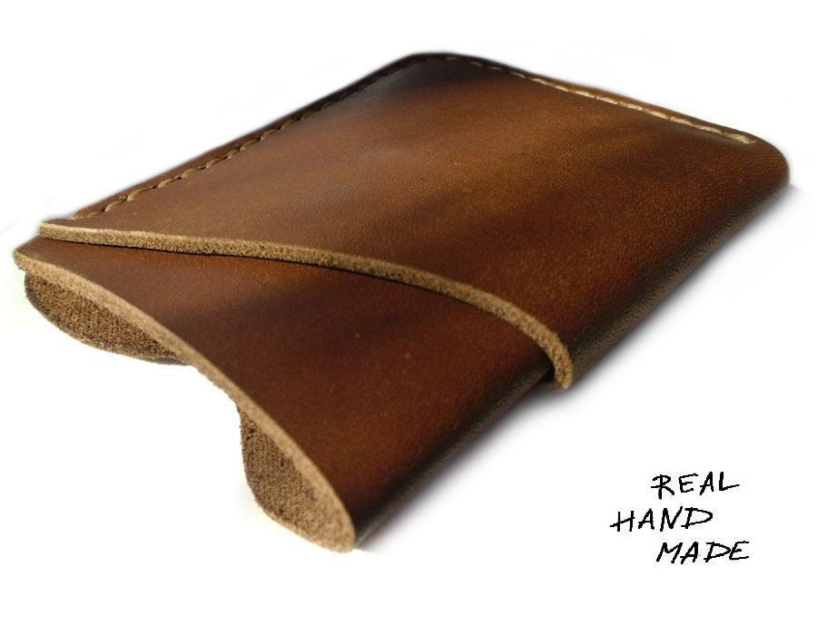 Leather Business Card Case - Leather Credit Card Case - Mens Wallet ...