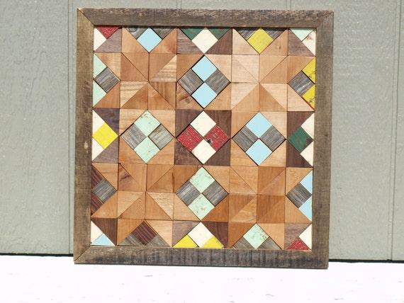 wooden barn quilt block, salvaged wood quilt block
