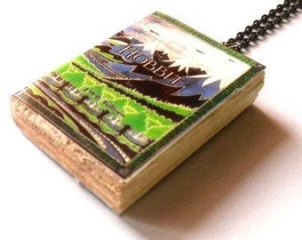 The Hobbit J.R.R. Tolkien Mini Classic Book Necklace Pendant Handmade Jewelry