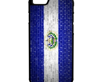 El Salvador Flag Brick Wall iPhone Galaxy Note LG HTC Hybrid Rubber Protective Case