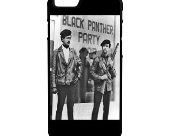 Black Panther Party iPhone Galaxy Note LG HTC Protective Hybrid Rubber Hard Plastic Snap on Case Black