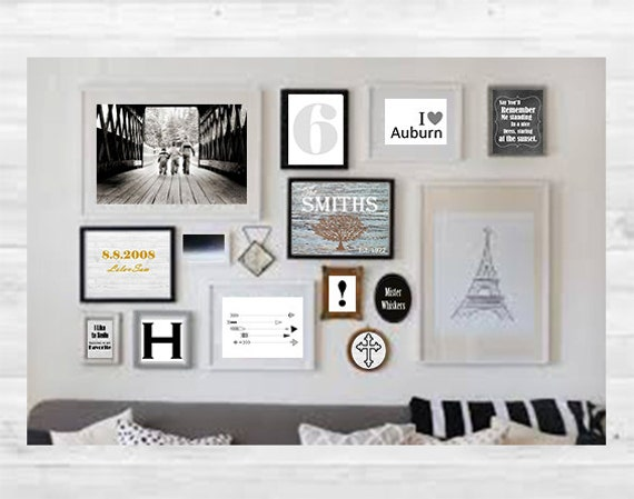 Gallery Wall Prints items similar to personalized gallery wall art, custom art prints
