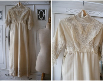 Edwardian dress, wool & silk, Titanic era