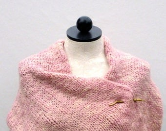 Oversized Pink Infinity Scarf