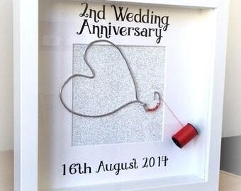 ... Anniversary Personalised FrameCottonWedding Anniversary Gift