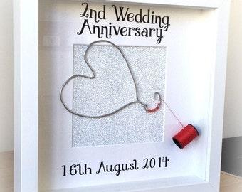 Cotton Wedding Anniversary Gift Ideas Uk : ... Anniversary Personalised FrameCottonWedding Anniversary Gift