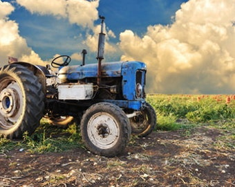 Old tractor photography backdrop, Children photobooth background, customize photo painting backdrops D-8614