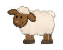 Lamb Applique Machine Embroidery Digital Design Sheep Ewe Baa Farm Animal