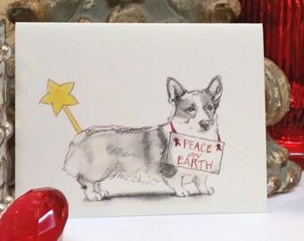 Corgi Holiday Card