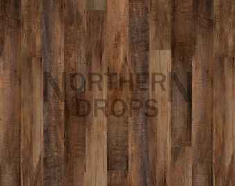 Photography Backdrop - DARK Brown WOOD FLOOR - Wood parquet floor background - Wood boards photo backdrop - Brown wood floordrop - 5ft x 5ft
