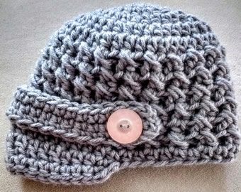 Crochet newsboy hat - Newborn