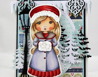 Winter Coat girl card