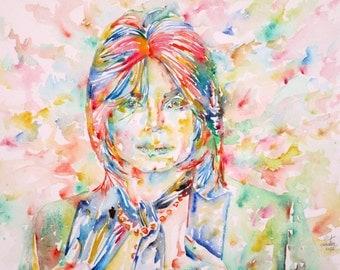 MICHAEL JACKSON - original watercolor portrait - one of a kind!