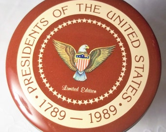 Presidential Tin 1789 - 1989 Limited Edition