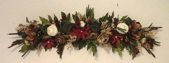Floral Swag Silk Floral Wreath Shipping By