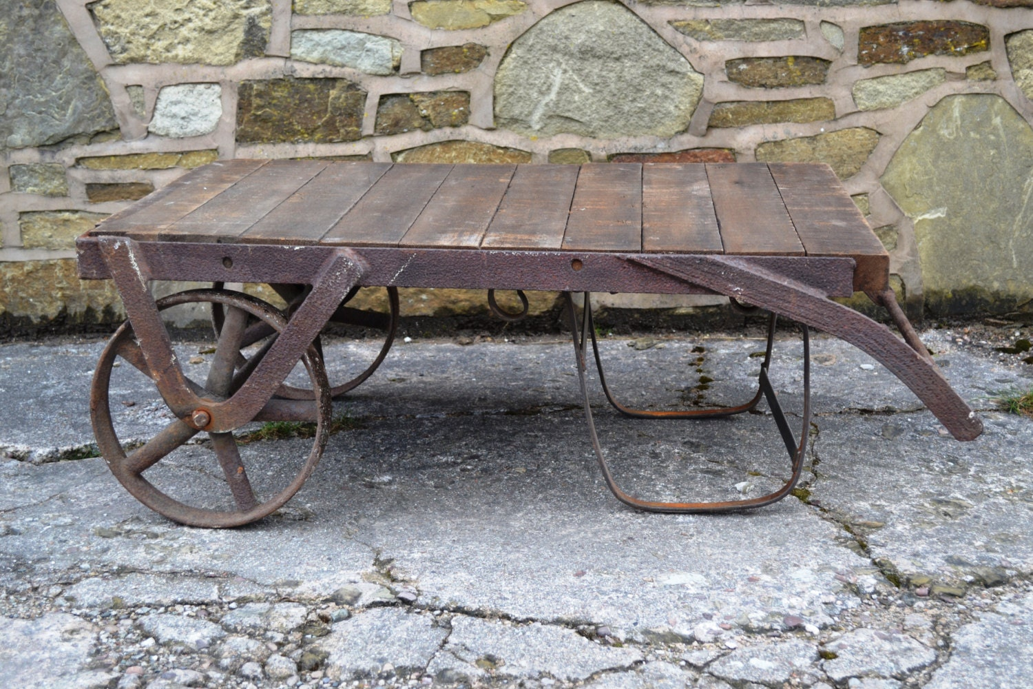 Cast Iron Trolley Coffee Table