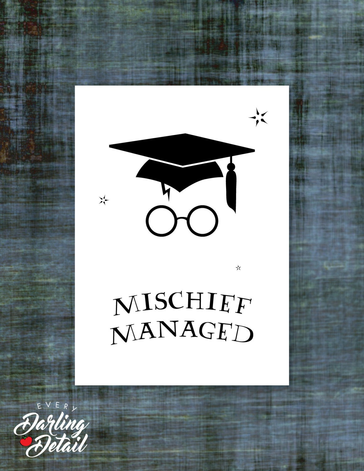 harry potter graduation card mischief managed blank