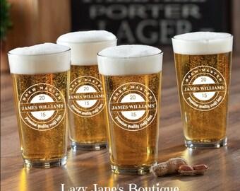 Personalized Pub Pint Set