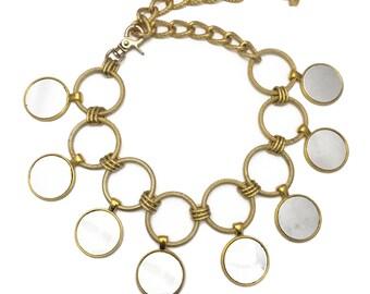 Mirror Drop Choker Necklace