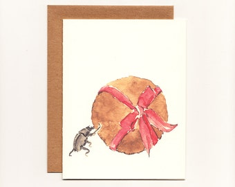 Funny Birthday, Celebration, Occasion Greeting Card, Dung Beetle