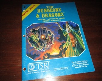 Dungeons and Dragons Expert Rulebook 1981 TSR