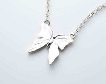 I Still Get Butterflies silver necklace, Sterling Silver Necklace