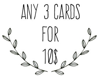 Any 3 Greeting Cards