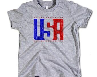 USA Vintage Toddler Tee 2-12 Years USA USA rb
