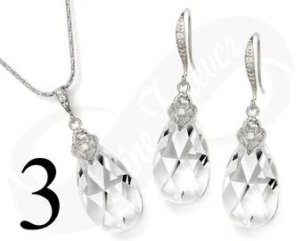 Set of 3 Bridesmaid Jewelry Set Bridesmaid Crystal Jewelry Set Bridesmaid Crystal Jewelry Set Bridal Jewelry Bridal Set Bridesmaid Gift
