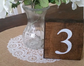 Set of 15 Wedding Table Numbers, Rustic Table Numbers