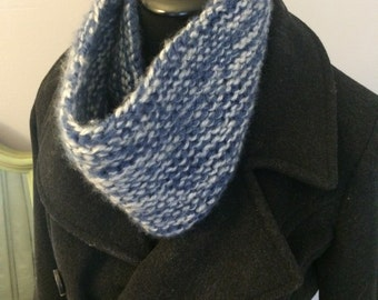 Hand-made knit cowl scarf