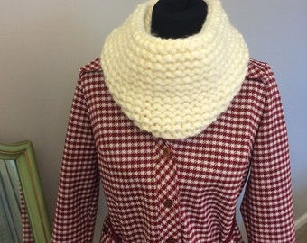 Hand-Knit Cowl Scarf