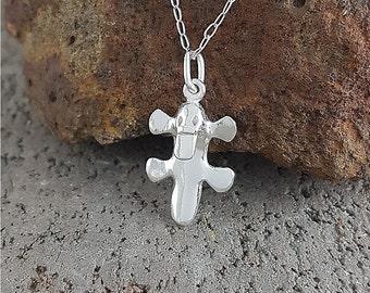 Platypus pendant in sterling silver