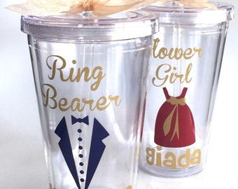 Flower Girl Cup, Will you be my Flower Girl?  Be my Ring Bearer?  Flower Girl Personalized Tumbler, Ring Bearer Personalized Tumbler,