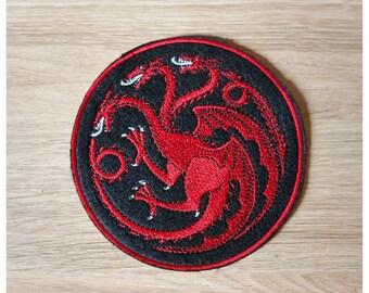 Crest Patch Dragons Targaryen 10 cm diameter series Game Of Thrones
