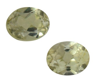 Yellow Apatite Loose Gemstone Oval Cut Set of 2 4x3mm TGW 0.32 cts.