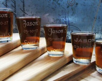 Groomsman Personalized Gift 1 Shot Glass