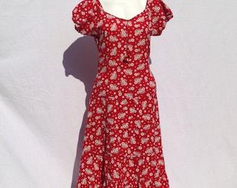 70s  prairie dress cotton