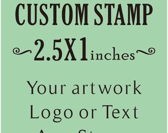 Custom Stamp, Custom Logo Stamp, Wedding Stamp, Business Card Stamp,custom return address stamp, Craft 2.5x1inches